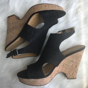 Franco Sarto | Black Glamour Wedge Sandals